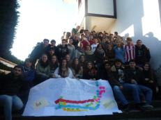 Encuentro curso iniciación Emús: encuentro de los grupos de 2º de bachillerato de Bilbao, Vitoria-Gasteiz, Pamplona-Iruña y Tolosa para empezar a formarnos como monitores