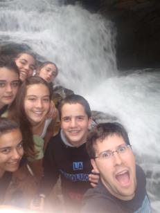 Selfie en la cascada del cubo