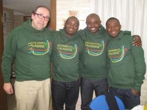 Con los responsables de África Occidental